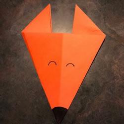 幼儿手工折纸狐狸的最简单方法图解