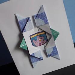折纸制作生日贺卡礼物的方法图解教程