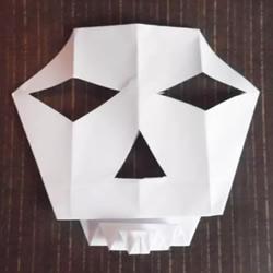 折纸骷髅头面具的折法图解教程