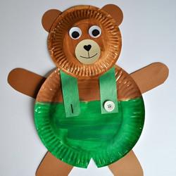 儿童手工制作可爱纸盘小熊的做法教程