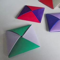 儿童手工折纸手牌玩具的折法图解教程