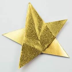 儿童折纸五角星的简单方法图解教程