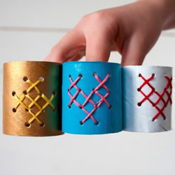 �l生�卷�筒手工制作餐巾�套的做法教程
