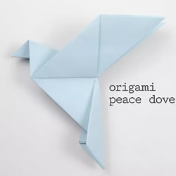 儿童手工折纸和平鸽的折法图解教程