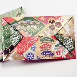 一张纸折信封的方法拉开式长方形图解