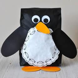 幼儿园手工制作纸袋企鹅的做法教程