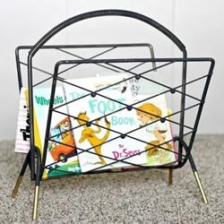 旧货店杂志架改造儿童可爱书架的做法教程