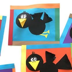 简单又可爱乌鸦纸贴画的手工制作方法图解