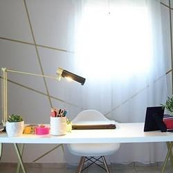 自己动手DIY墙饰的方法 画出漂亮金色线条!