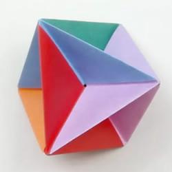 儿童折纸吹气旋转玩具的折法图解教程