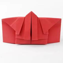 简单折纸和服的详细步骤图解教程