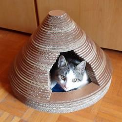 自制瓦楞纸板猫屋的方法图解教程