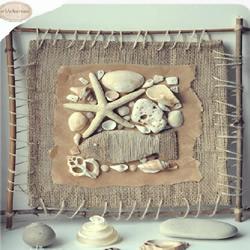 自制海洋风贝壳装饰画的方法图解教程