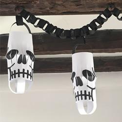 幼儿园手工制作万圣节骷髅头灯笼的做法教程
