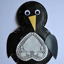 幼儿园手工制作纸盘企鹅的做法教程