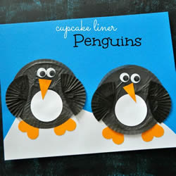 幼儿手工制作企鹅粘贴画的做法教程