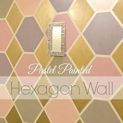 简单DIY六角形图案墙饰的做法教程