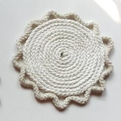 尼龙绳手工制作花朵杯垫的做法教程