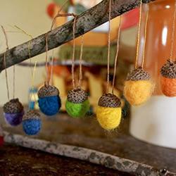 羊毛毡橡子的制作方法 挂起来就像一道彩虹!