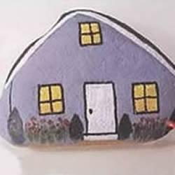 简单石头画小房子的画法图解教程