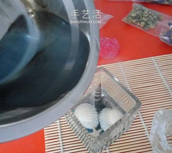 简单自制漂亮蜡烛杯的方法图解教程 -  www.shouyihuo.com