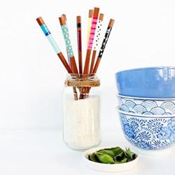 用指甲油DIY改造筷子的方法图解教程