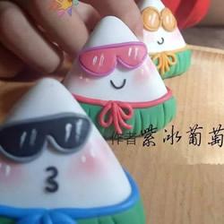 自制端午��陶粽子的做々法教程�D解