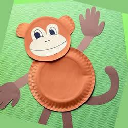 幼儿园手工制作猴子贴画的做法教程