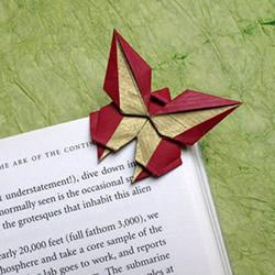 手工折纸蝴蝶书签的折法图解教程