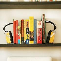 旧头戴式耳机废物利用DIY制作复古风书立