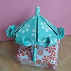 简单折纸漂亮雨伞的折法图解教程
