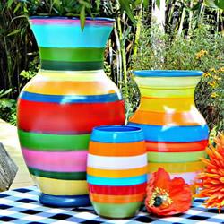 简单自制条纹花瓶的方法图解教程