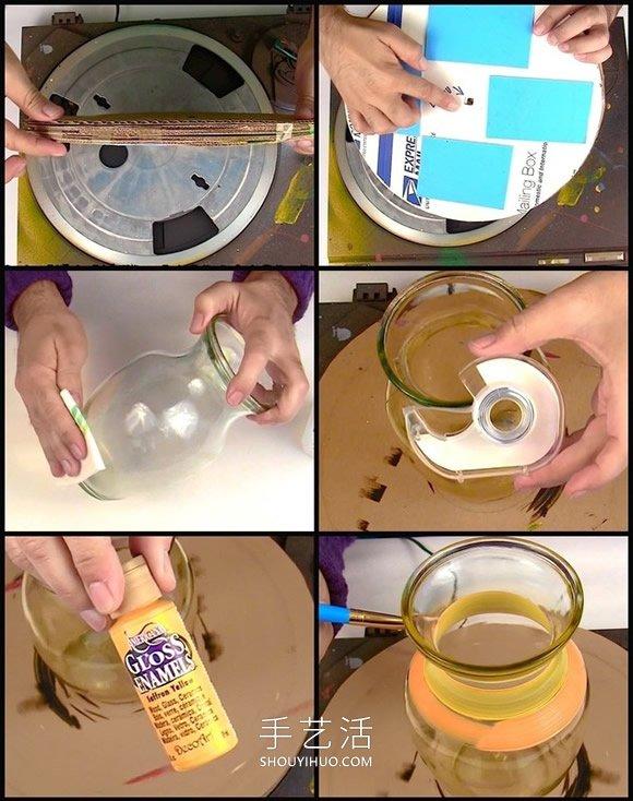 简单自制条纹花瓶的方法图解教程 - www.shouyihuo.com