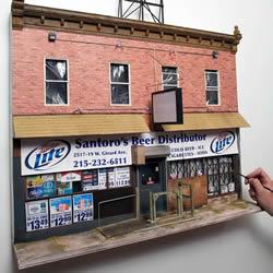 精心还原每个细节!费城最破旧社区建筑模型