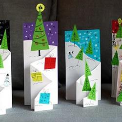 创意立体圣诞卡片的做法教程图解