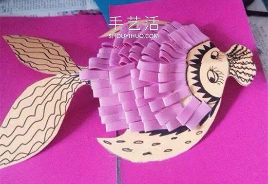 �和�在手工制作年年有余�祜�的做法教程 -  www.shouyihuo.com