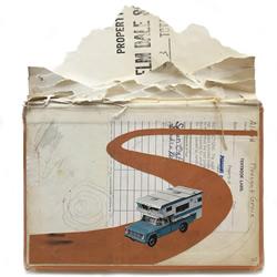 艺术家使用旧照片和书籍DIY叙事拼贴画