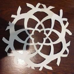 简单剪纸六瓣花窗花的剪法图解教程