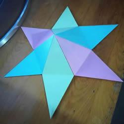 ��问止ふ奂�立�w六角星的折法�D解教程