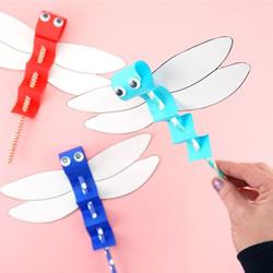 幼儿园手工制作蜻蜓木偶的简单做法教程