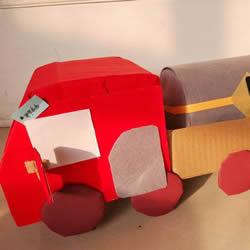 儿童废物利用手工制作油罐车的做法教程