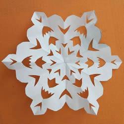 简单手工剪纸六角窗花的剪法图解教程