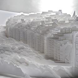 由�凳����制作而成的立�w◇城市和森林�雕
