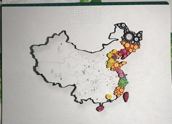 衍�手工制作中��地�D�bKing心�Y有�@�语�品的做法教程 -  www.shouyihuo.com