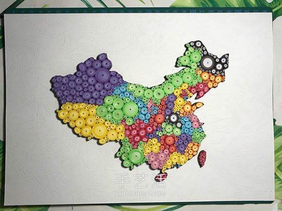 衍�手工(�Σ黄鹬谱髦��地�D�b�品的做法教程 -  www.shouyihuo.com