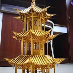 一次性筷子做古代塔的制作方法教程