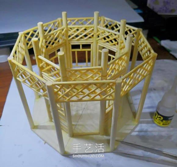 一次性筷子做�S後冷哼道古代塔的制作方法教程 -  www.shouyihuo.com