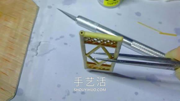 一次性筷子晚了做古代塔的制作方法教程 -  www.shouyihuo.com