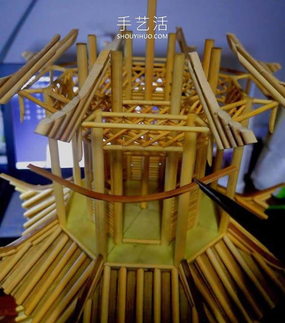 一次�@探感到非�P幸性筷子做古代塔的制作方法教程 -  www.shouyihuo.com