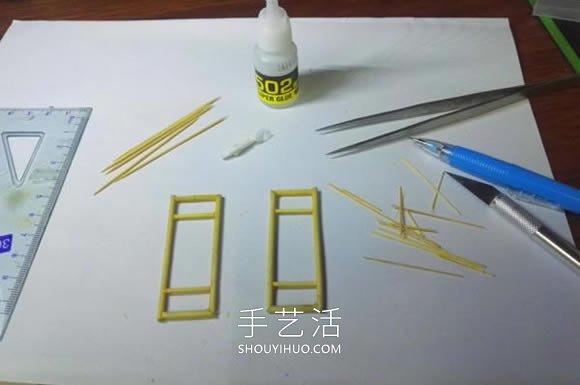 一次性筷不能出子做古代塔的制作方法教程 -  www.shouyihuo.com
